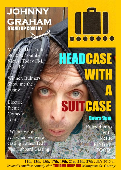 Headcase with a suitcase poster A4
